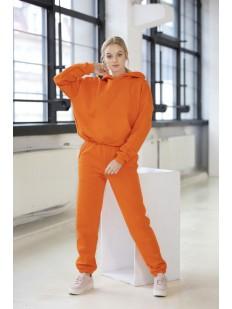 Оранжевые женские джоггеры с завышенной талией