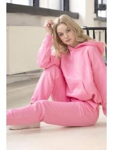 Розовые женские джоггеры с завышенной талией