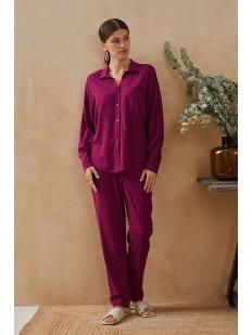 Бордовые женские брюки из легкой вискозы