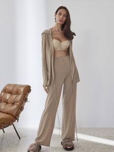Домашние женские брюки с золотым люрексом