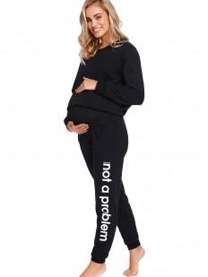 Черные брюки джоггеры для беременных