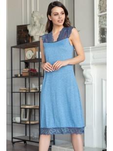 Женская ночная сорочка из вискозы длинная с кружевными вставками Mia-Amore Botticelli