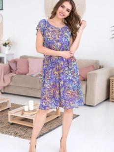 Женская домашняя летная туника фиолетовая