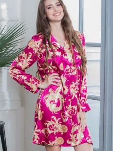 Женская атласная ночная рубашка с восточным принтом Mia-Mella Versachi Deluxe