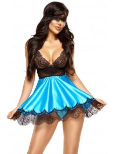 Атласная сорочка Beauty Night EVE turquoise