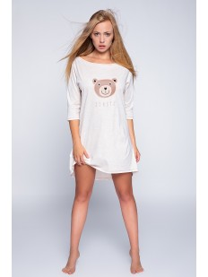 Женская короткая ночнушка хлопковая с мишкой Sensis BEAR