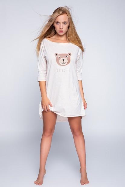 Женская хлопковая ночная сорочка с мишкой Sensis BEAR