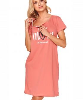 Коралловая сорочка с верхней молнией для беременных и кормящих