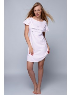Женская сорочка из хлопка с коротким рукавом и рюшами Sensis PAMELA