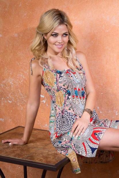 Короткое пляжное платье-сорочка Mia-Mia Maya 16131 - фото 1