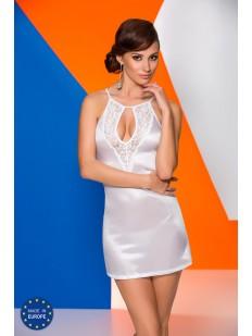 Женская атласная свадебная сорочка с кружевом с открытой спиной
