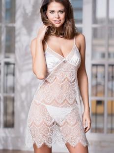 Свадебная ночнушка кружевная на бретелях Mia-Amore Laguna Deluxe