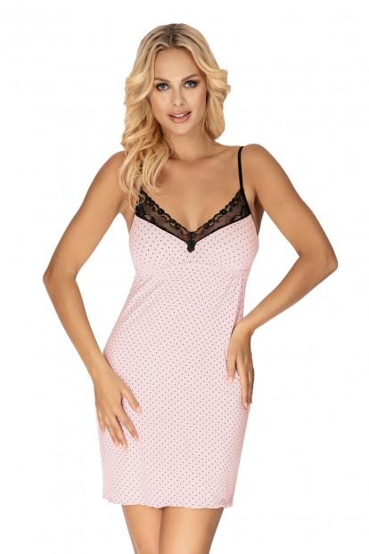 Короткая розовая сорочка в горошек Donna ALICE - фото 1