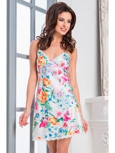 Женская атласная летняя сорочка с цветочным принтом Mia Sofia Mariella