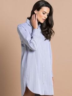 Женская ночная рубашка из хлопка с длинным рукавом