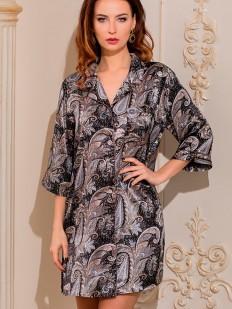 Женская шелковая ночная рубашка на пуговицах Mia-Amore Donatella