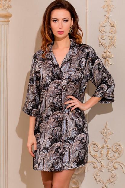 Женская шелковая ночная рубашка на пуговицах Mia-Amore Donatella 3127