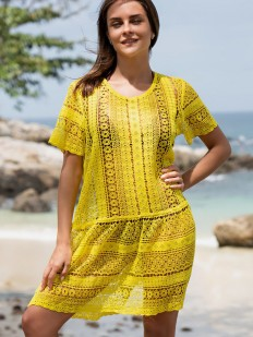 Желтая пляжная туника Mia-Amore Jamaica 6644