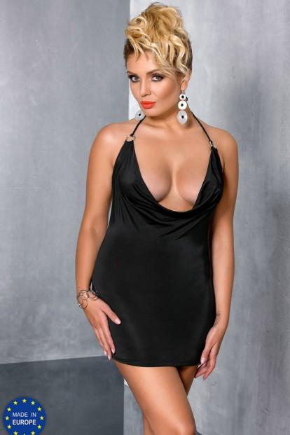 Эротическое платье в комплекте со стрингами Passion Miracle Chemise Size Plus - фото 1