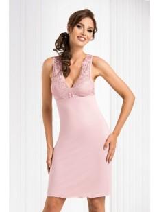 Женская ночная сорочка из вискозы без рукавов розовая