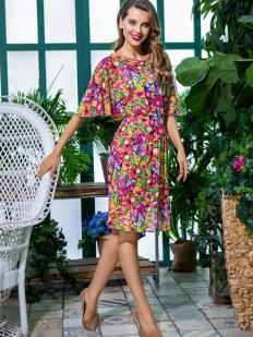 Женское летнее платье для дома с ярким принтом