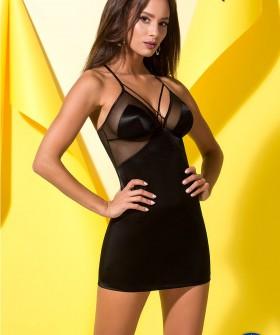 Черная эротическая сорочка и стринги Avanua QUELLA chemise