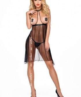 Эротическая сорочка Me Seduce Lucy Chemise Black