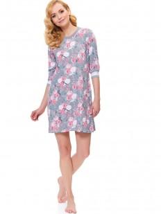 Женская ночная сорочка с цветочным рисунком