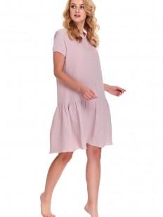 Хлопковая розовая сорочка на пуговицах в роддом