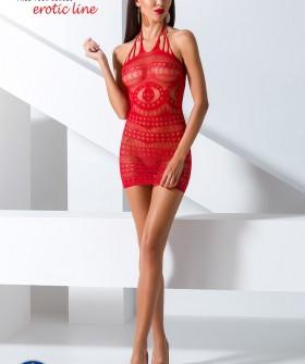 Эротическое платье-сетка Passion erotic line Bs 063 red