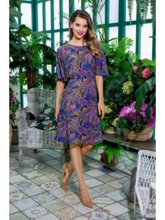 Последний товар!!! Летнее женское домашнее платье с синим принтом