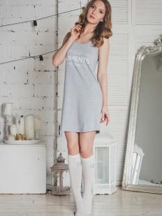 Женская хлопковая ночная сорочка на бретелях Evelena Stars
