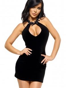 Черная эротическая сорочка платье Beauty Night SOLANGE