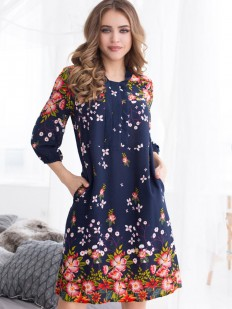 Летнее женское домашнее платье туника из вискозы