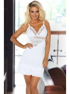 Белая кружевная ночная сорочка из модала Beauty Night Petra White