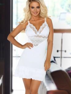 Короткая свадебная женская сорочка с кружевом