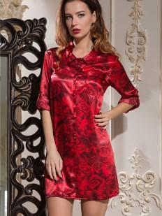 Шелковая женская ночная рубашка с принтом розы Mia-Amore Carmen