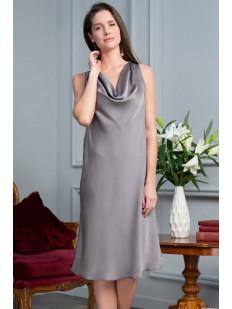 Женская атласная сорочка с вырезом на спине из шелковистого полотна Mia-amore De luna