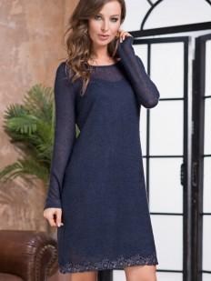Теплое женское домашнее платье из шерсти