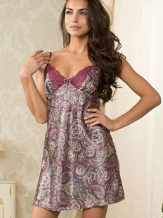 Летняя атласная ночная сорочка на бретелях Mia-Sofia Adel