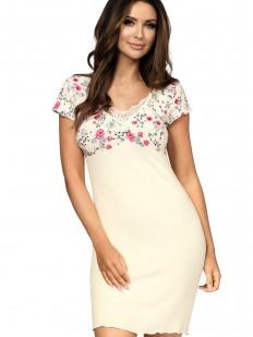 Трикотажная женская ночная сорочка из вискозы с коротким рукавом