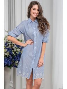 Женская хлопковая ночная рубашка в полоску Mia-Amore Nizza