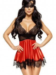 Атласная сорочка Beauty Night EVE red