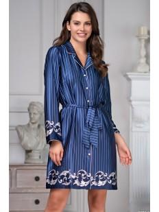 Атласная женская ночная рубашка на пуговицах и с карманами
