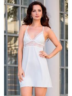 Трикотажная свадебная сорочка из вискозы с кружевом