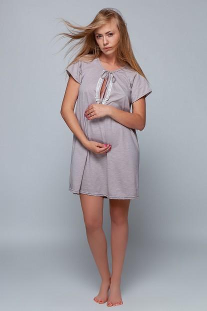 Хлопковая женская ночная сорочка свободного кроя с коротким рукавом Sensis KATE - фото 1