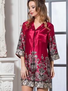 Женская шелковая ночная рубашка с орнаментом Mia-Amore Justin