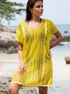 Желтая пляжная туника Mia-Amore Jamaica 6641