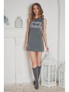 Женская хлопковая ночная сорочка без рукавов