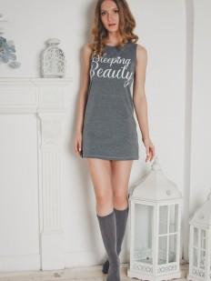 Женская хлопковая ночная сорочка без рукавов Evelena Sleeps